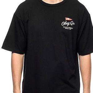 Obey Nautical Black T-Shirt